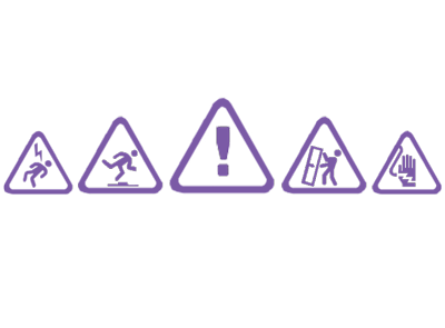 Safety triangle icons
